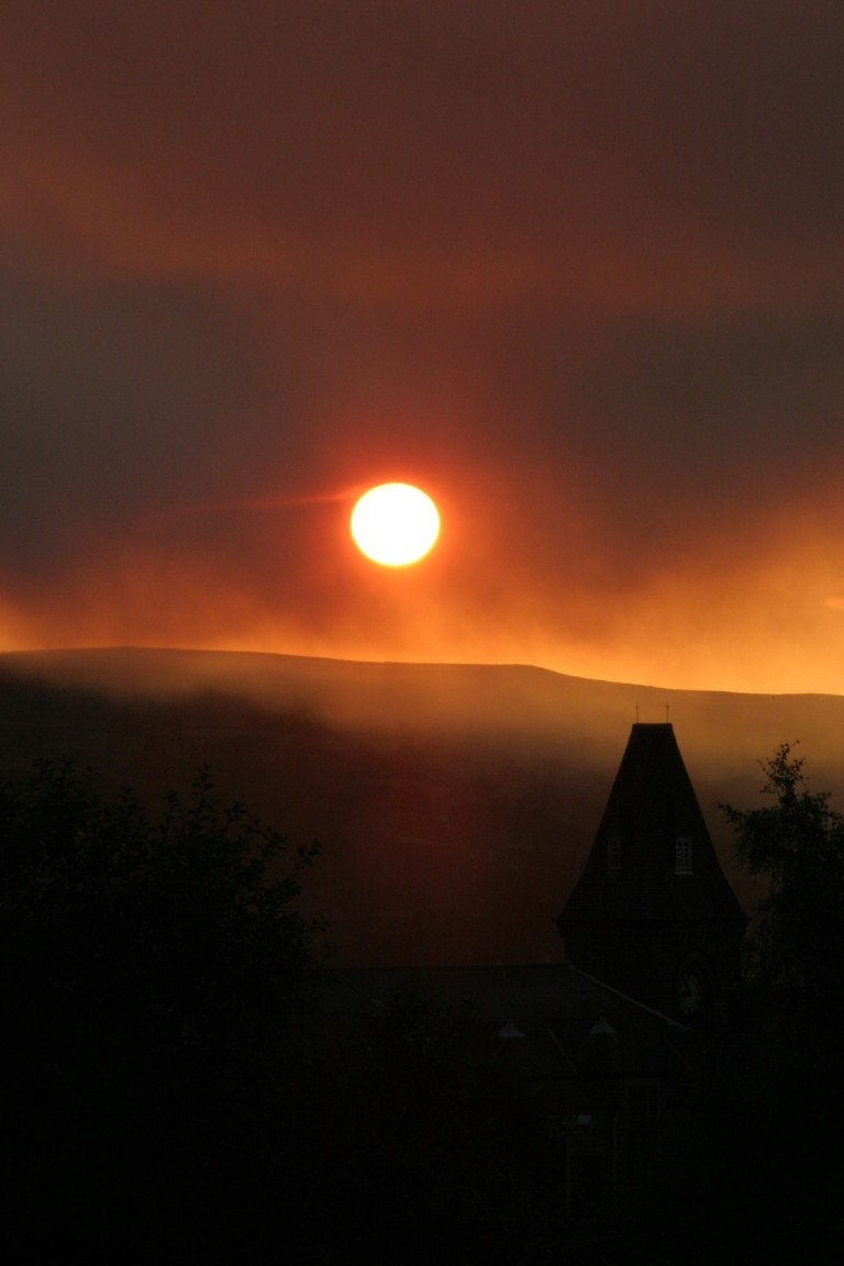 Smoky Sunset Over Yeadon