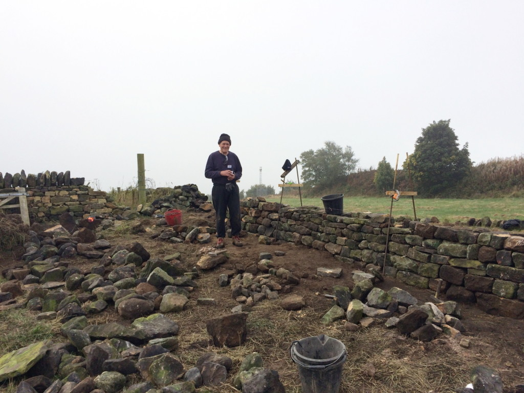 Dad and Dry Stone Wall, Chevin