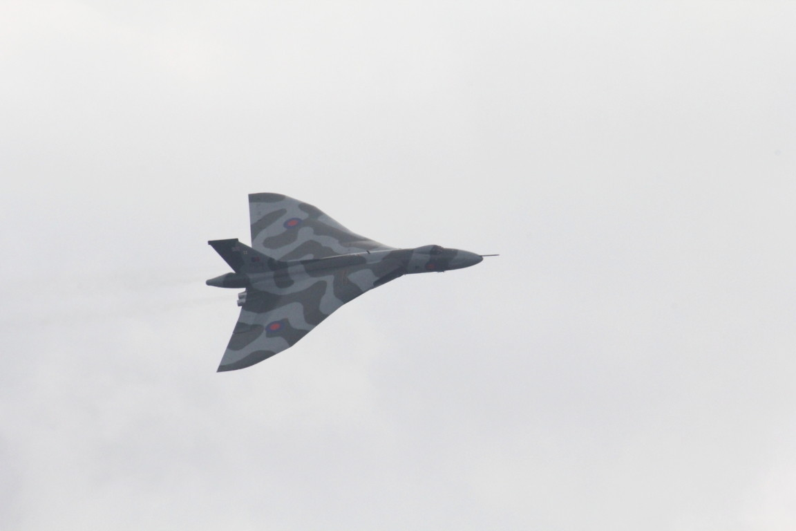 Vulcan over Menwith Hill