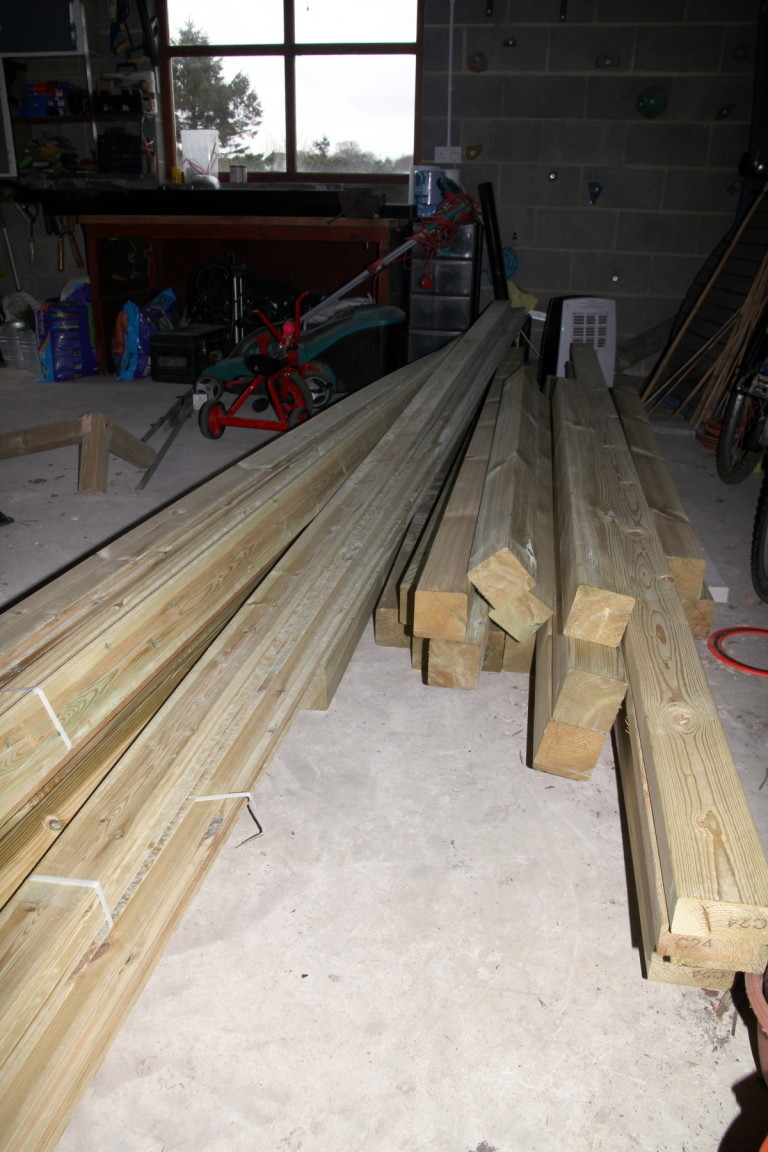 Big Pile of Wood for Building the Children a Castle