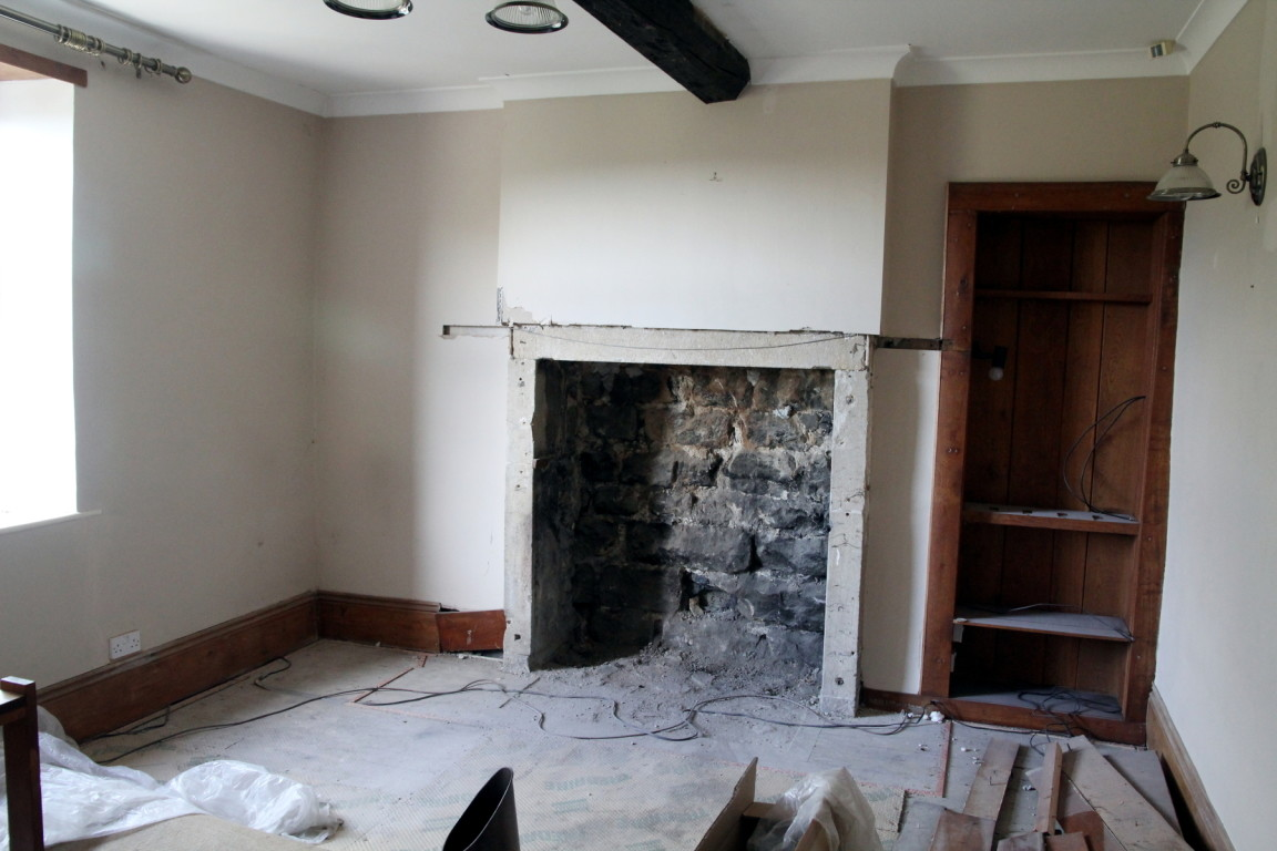 Living Room Fireplace Gone