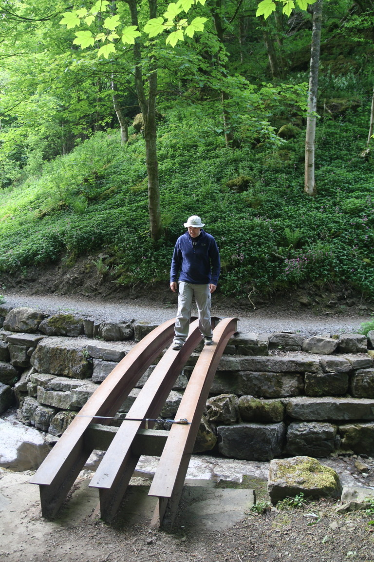 Will Crossing Dodgy Half-Built Bridge at Hardraw Force
