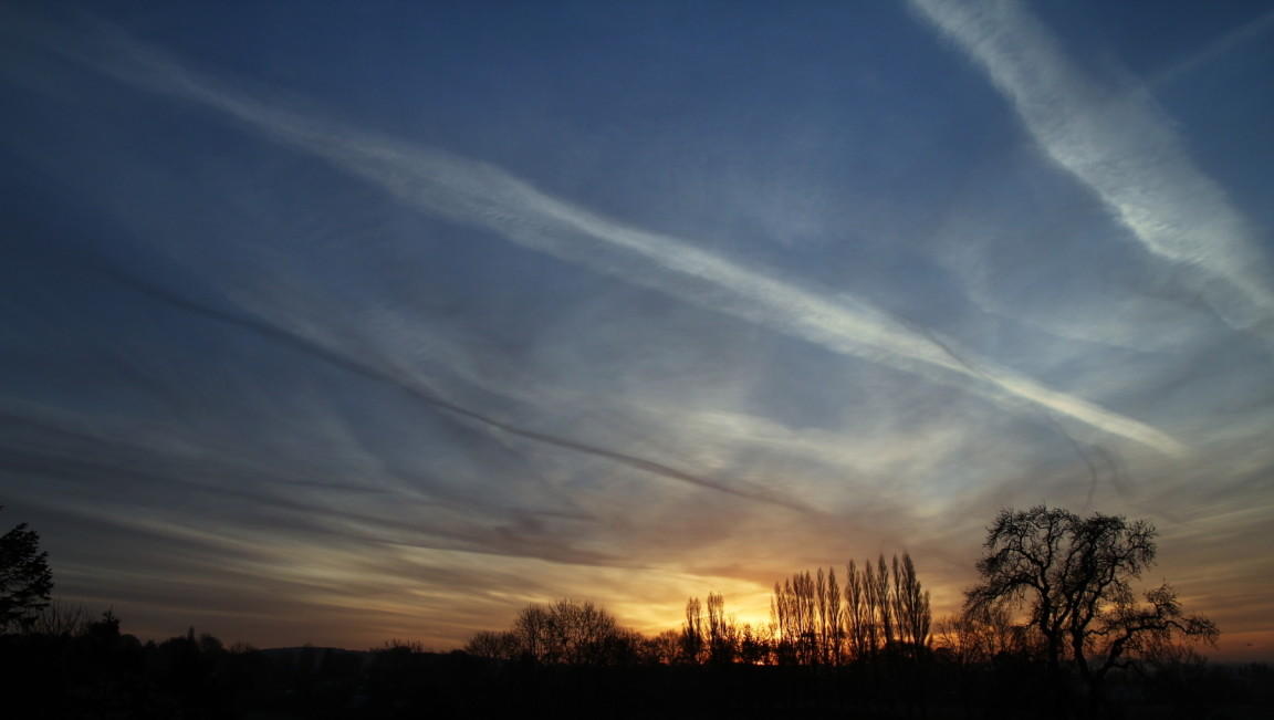 Sunrise and Contrails, Guiseley