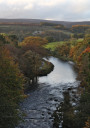 River Wharfe and Barden Tower, North Yorkshire