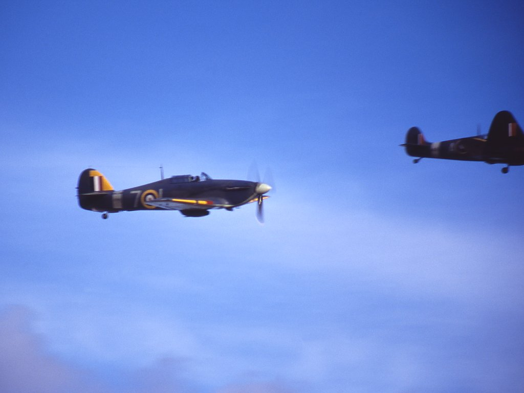 Hawker Hurricane And Bit Of Spitfire