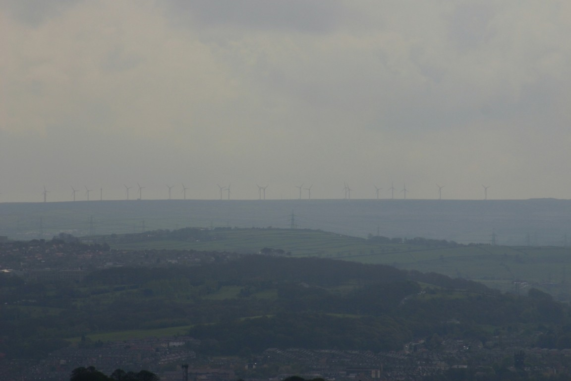 Wind Turbines, Looking South From My Roof