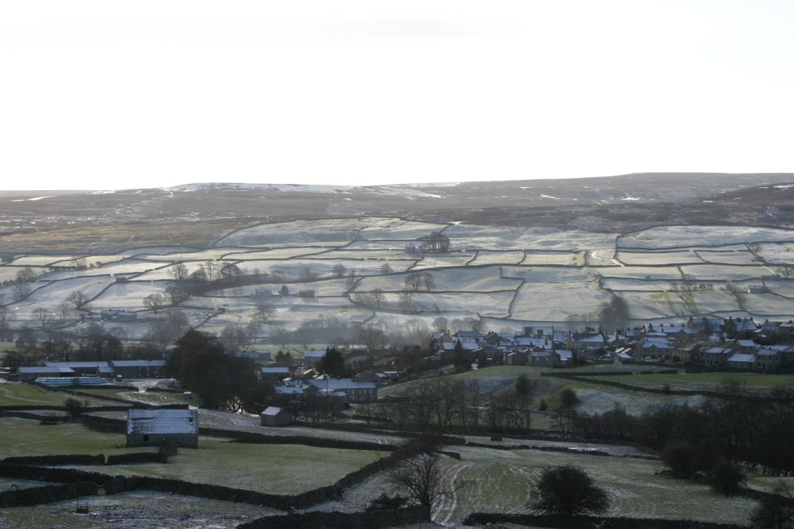 On Way Up Fremington Edge, Looking At Reeth
