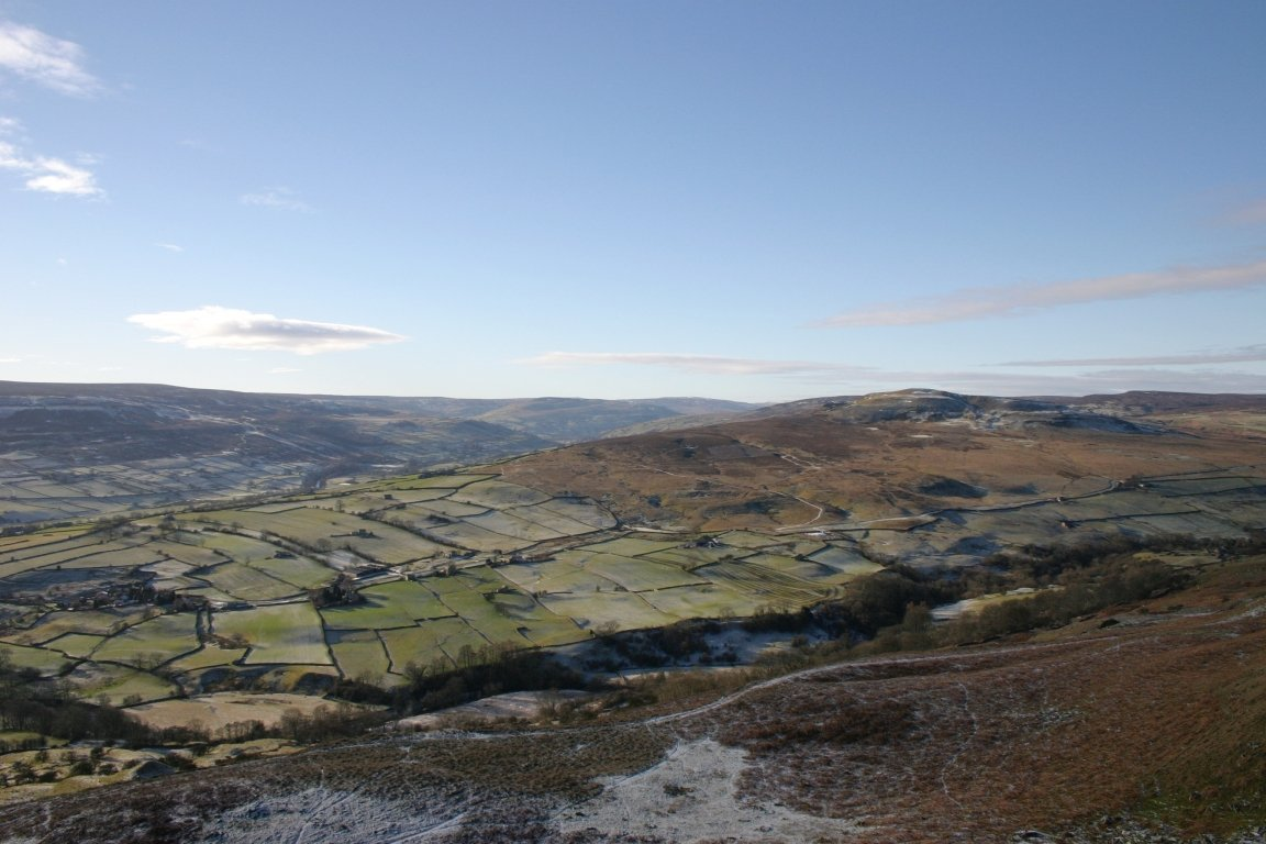 On Way Up Fremington Edge, Looking At Reeth Low Moor