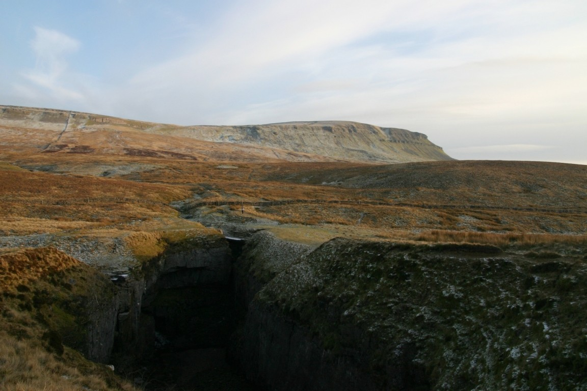 Hull Pot, Pen Y Ghent In Background