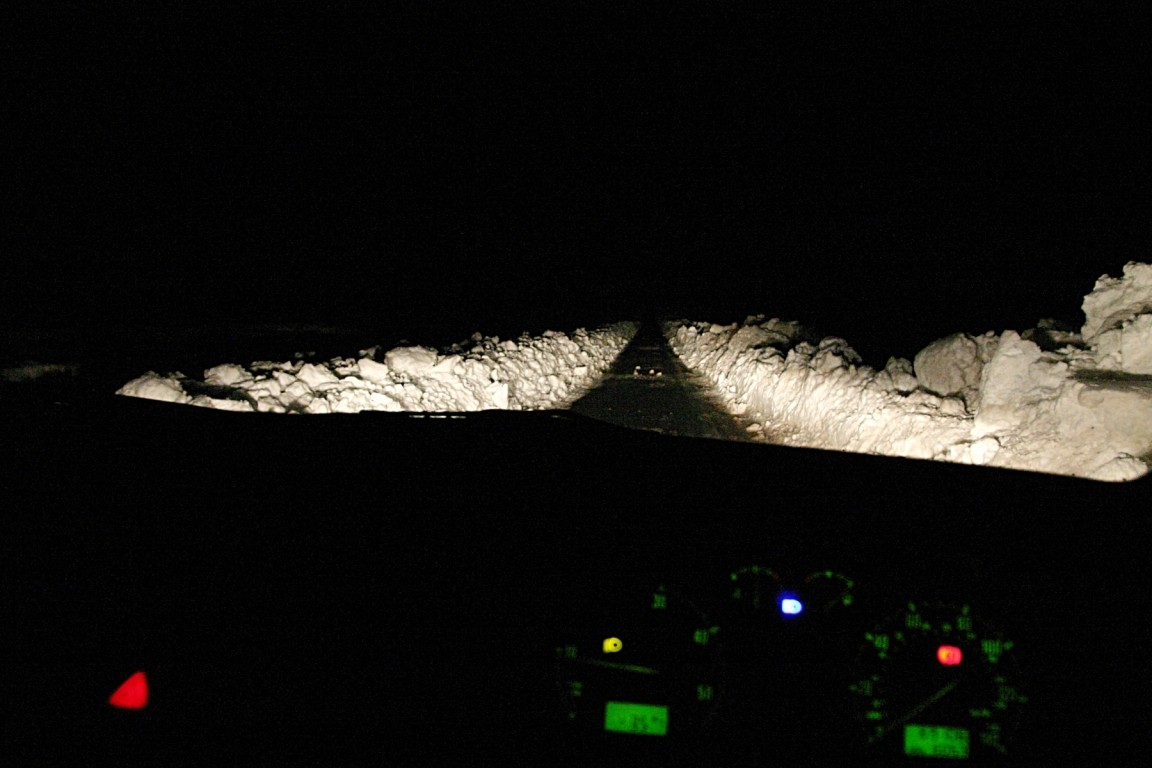 The Drive In Was Interesting - The Road Was Covered In Lumpy Snowy In Places