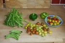 Lots Of Runner Beans, Broad Beans, Tomatoes And Peppers
