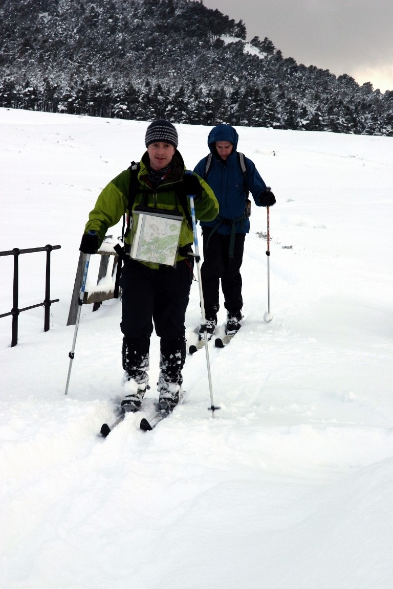 Simon And Pete Cross Country Skiing, Balmoral Forest