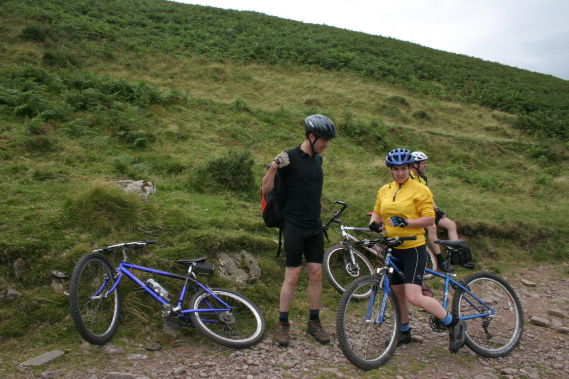 Pete, Nic, Joe On Way To Bwlch Ar Y Fan
