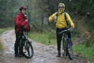 Simon And Pete Looking Wet, Afan Forest