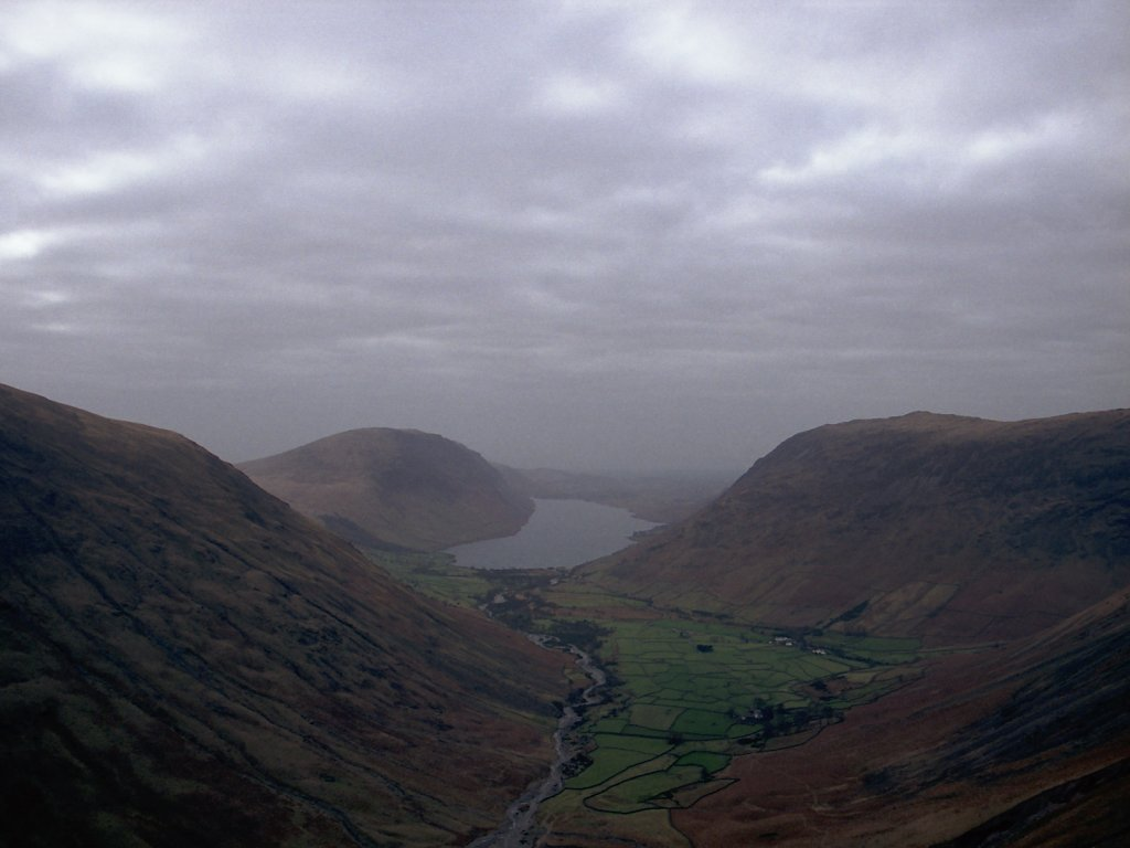 Wasdale Valley From Half Way Up Great Gable
