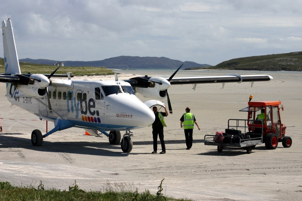 Loading Baggage, Barra Airport
