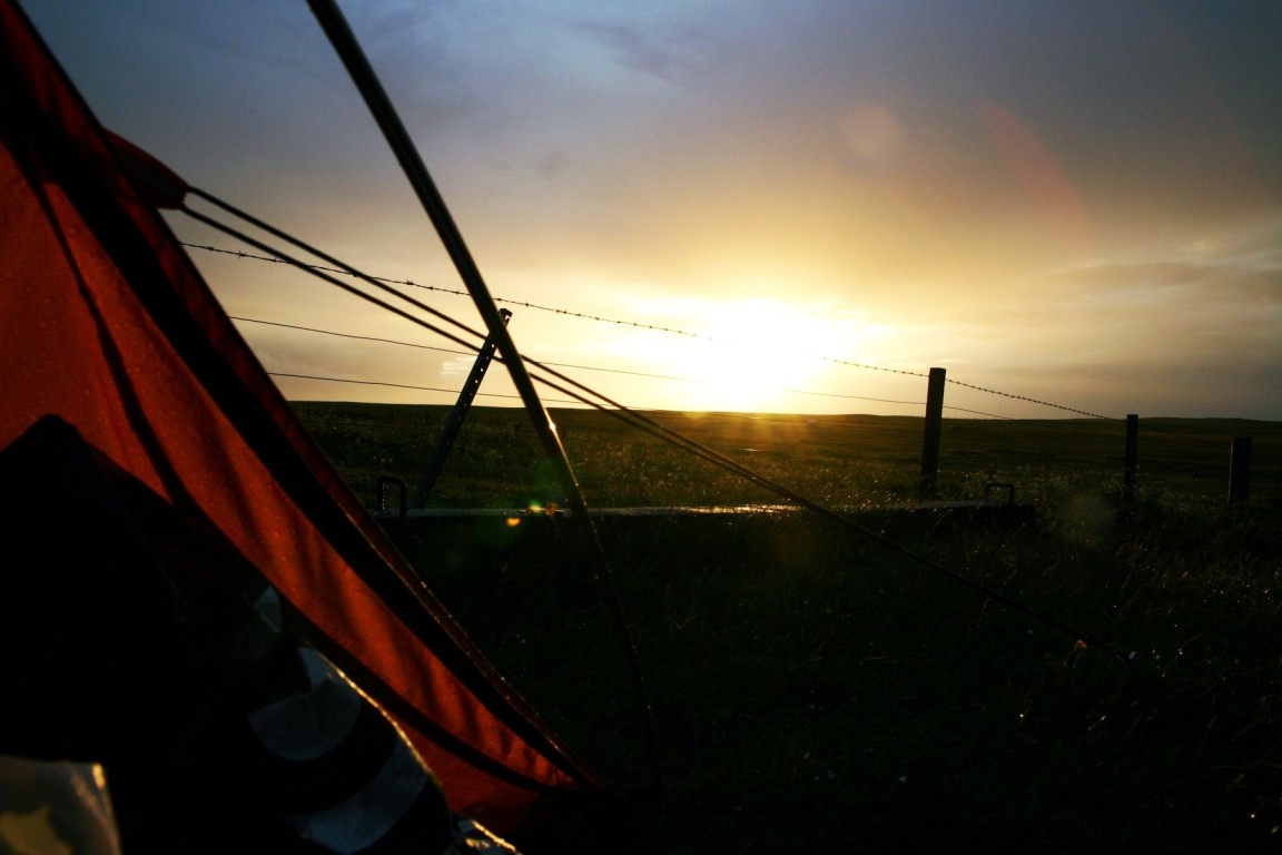 Camping At Howmore Youth Hostel, South Uist