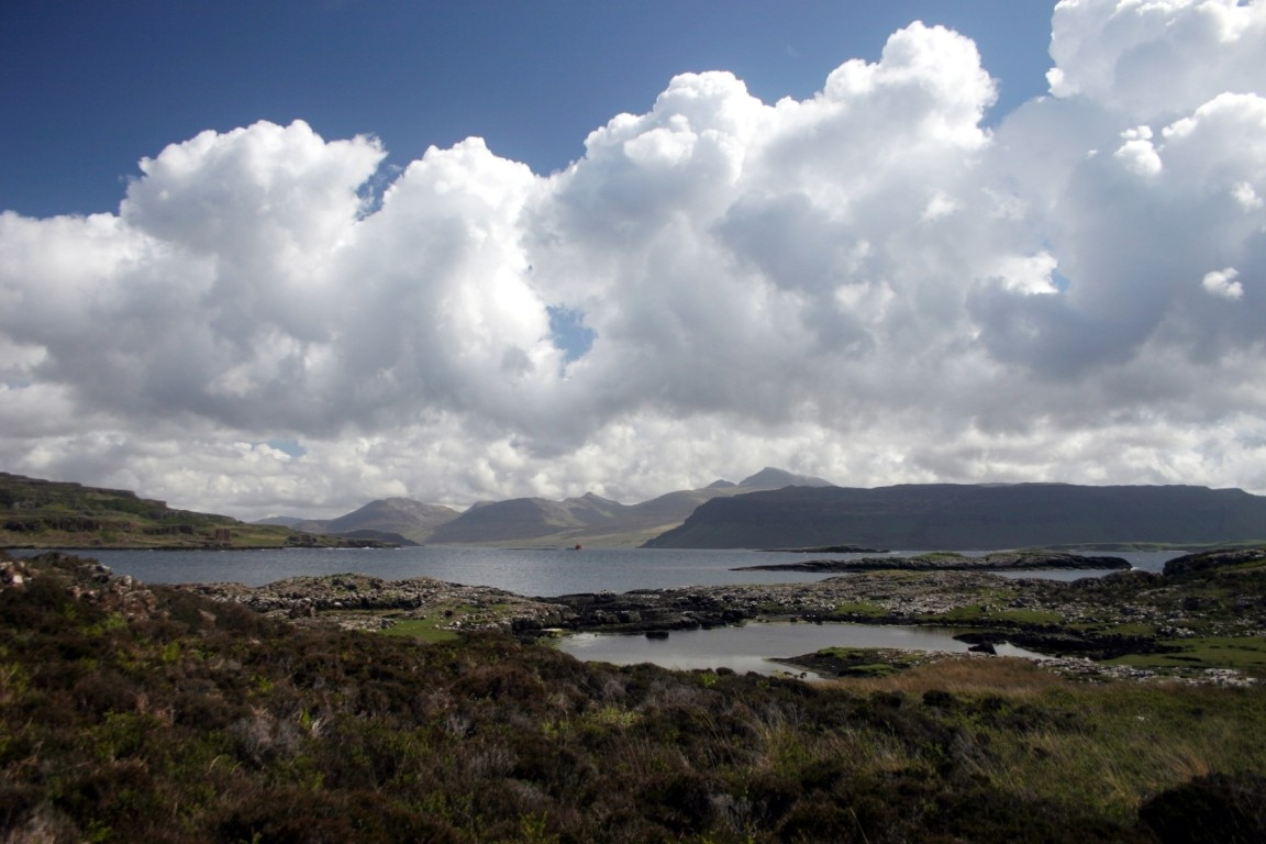 Lunch On Ulva, Inch Kenneth And Mull In Distance